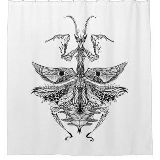 Inspired Praying Mantis Shower Curtain