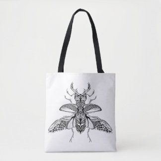 Inspired Psychedelic Stag-Beetle 2 Tote Bag