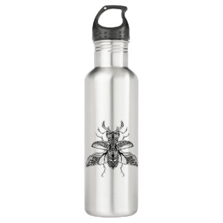 Inspired Psychedelic Stag-Beetle 710 Ml Water Bottle