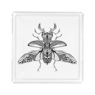 Inspired Psychedelic Stag-Beetle Acrylic Tray