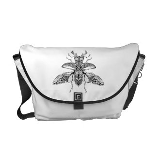Inspired Psychedelic Stag-Beetle Commuter Bags