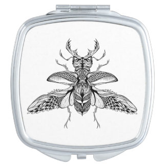 Inspired Psychedelic Stag-Beetle Mirror For Makeup