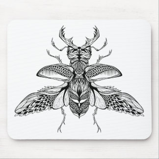 Inspired Psychedelic Stag-Beetle Mouse Pad
