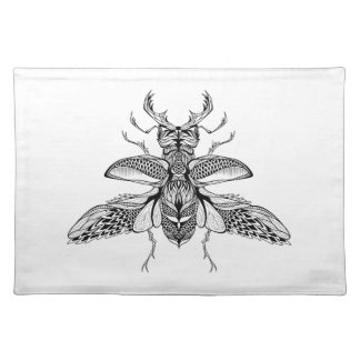 Inspired Psychedelic Stag-Beetle Placemat