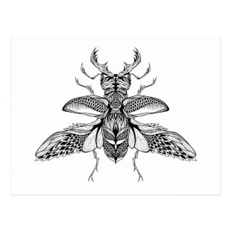 Inspired Psychedelic Stag-Beetle Postcard