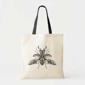 Inspired Psychedelic Stag-Beetle Tote Bag