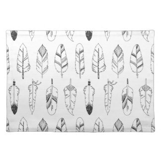 Inspired Retro Feather Pattern Placemat