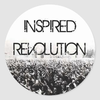 INSPIRED REVOLUTION ROUND STICKER