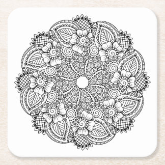 Inspired Round Design Square Paper Coaster