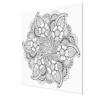Inspired Round Element 6 Canvas Print