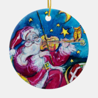 INSPIRED SANTA Red Ruby Gem Stone Christmas Ornament