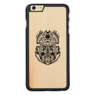 Inspired Scarab Carved® Maple iPhone 6 Plus Case