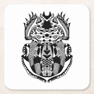 Inspired Scarab Square Paper Coaster