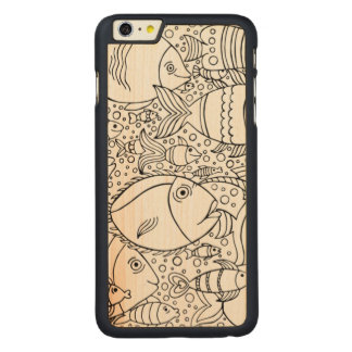 Inspired School Of Fish Carved® Maple iPhone 6 Plus Case