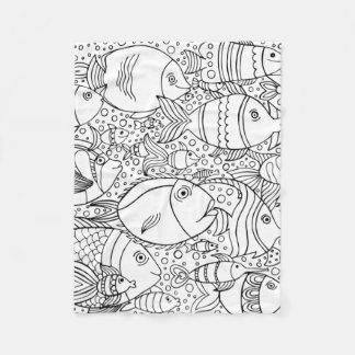 Inspired School Of Fish Fleece Blanket