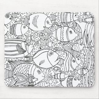 Inspired School Of Fish Mouse Mat