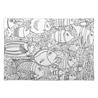 Inspired School Of Fish Placemat
