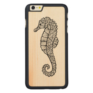 Inspired Sea Horse Carved® Maple iPhone 6 Plus Case