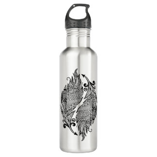 Inspired Sketch Of Feathers 710 Ml Water Bottle