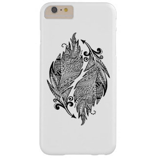 Inspired Sketch Of Feathers Barely There iPhone 6 Plus Case