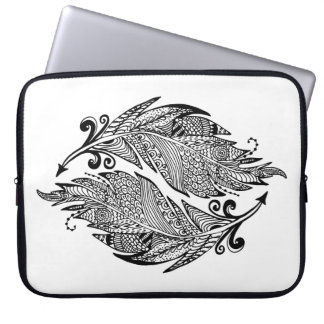Inspired Sketch Of Feathers Laptop Sleeve