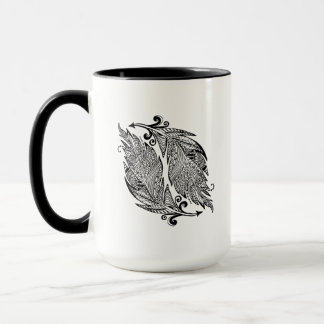 Inspired Sketch Of Feathers Mug