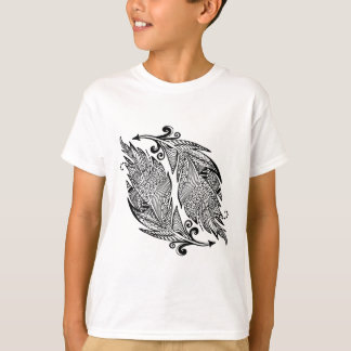 Inspired Sketch Of Feathers T-Shirt