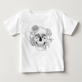 Inspired Skull And Flowers Baby T-Shirt