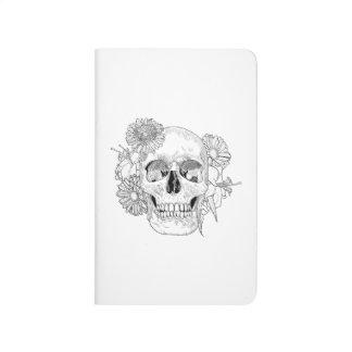 Inspired Skull And Flowers Journal