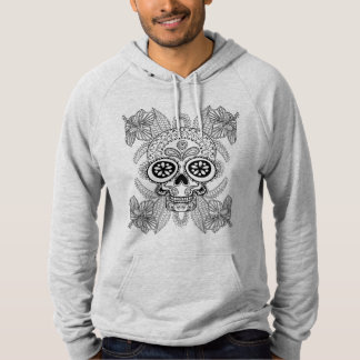 Inspired Skull In Flowers Hoodie