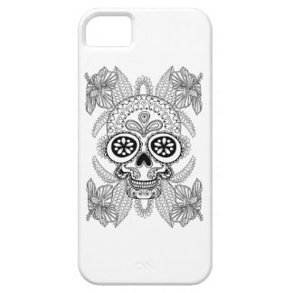 Inspired Skull In Flowers iPhone 5 Cases