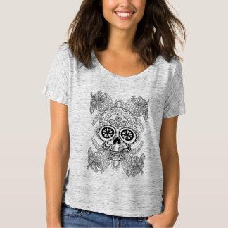 Inspired Skull In Flowers T-Shirt