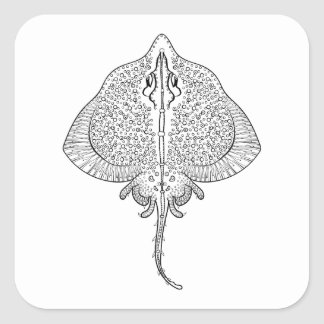 Inspired Stingray Totem Square Sticker