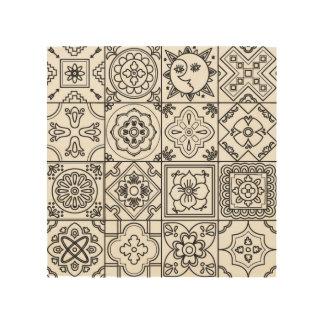 Inspired Talavera Pattern 5 Wood Prints