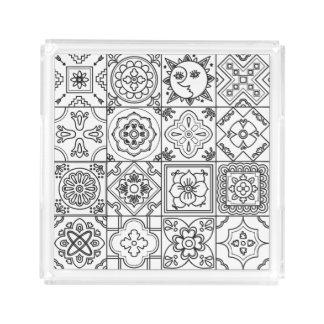 Inspired Talavera Pattern Acrylic Tray