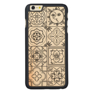 Inspired Talavera Pattern Carved Maple iPhone 6 Plus Case