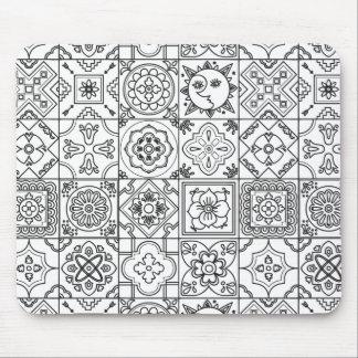 Inspired Talavera Pattern Mouse Mat