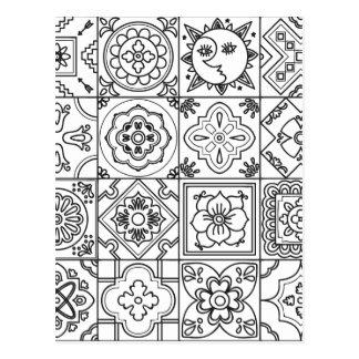 Inspired Talavera Pattern Postcard