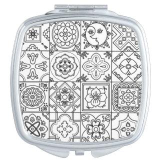 Inspired Talavera Pattern Vanity Mirror