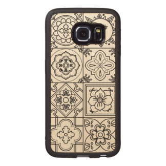 Inspired Talavera Pattern Wood Phone Case