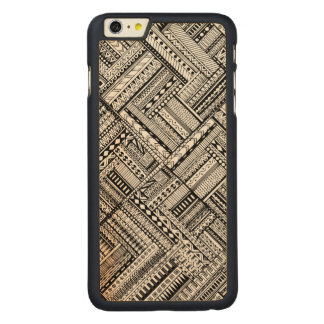 Inspired Tribal Art Pattern Carved Maple iPhone 6 Plus Case