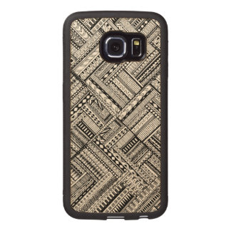 Inspired Tribal Art Pattern Wood Phone Case