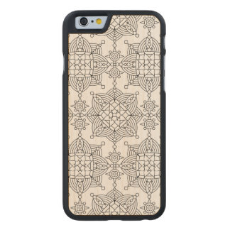 Inspired Tribal Artsy Pattern Carved Maple iPhone 6 Case