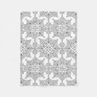 Inspired Tribal Artsy Pattern Fleece Blanket