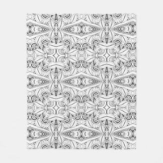 Inspired Tribal Design Fleece Blanket