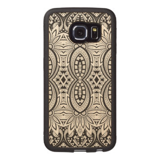 Inspired Tribal Drawing Wood Phone Case