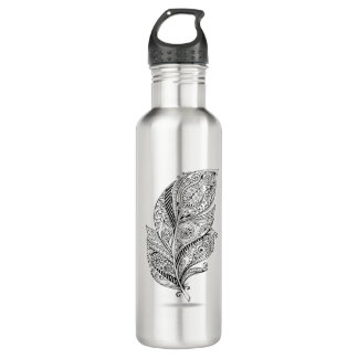 Inspired Tribal Feather 710 Ml Water Bottle