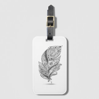 Inspired Tribal Feather Bag Tag