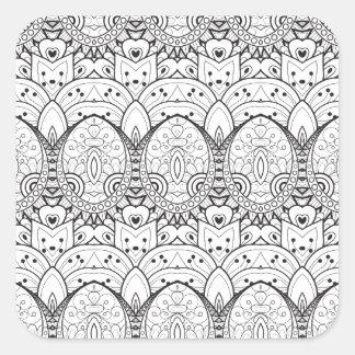 Inspired Tribal Illustration Square Sticker