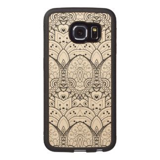 Inspired Tribal Illustration Wood Phone Case